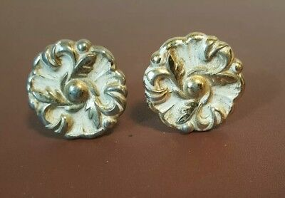 Vintage Antique Drawer pulls set of 2 round