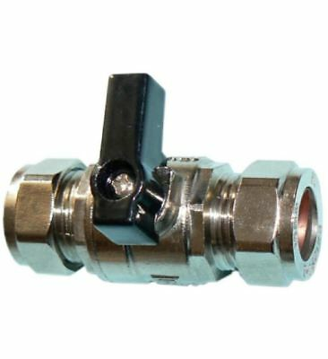 15mm Lever Operated Large Bore Chrome Isolation Valve - PACK OF 5