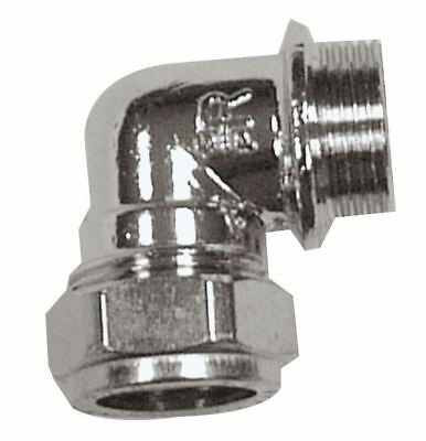 """22mm x 1"""" Male Chrome Elbows - PACK OF 10"""