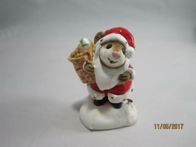 Wee Forest Folk M-043 Santa Mouse - Nice Vintage Piece - Retired in WFF Box