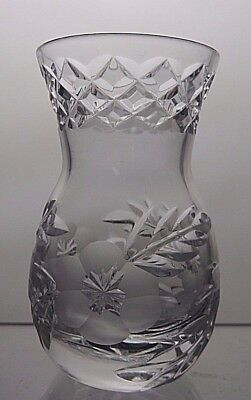 Tutbury Lead Crystal / Cut Glass Posy / Bud Vase