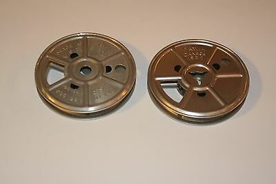 2 -Old 8MM Regular 50 Foot Metal 3 inch Reel - Made in USA - E. K. CO.