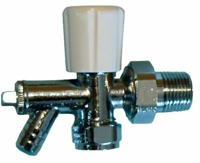 8mm Angle Radiator Valve With Drain Off - Optima - PACK OF 2