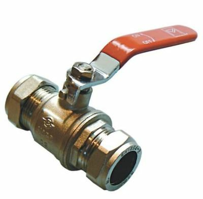 15mm Lever Ball Valve - Red Handle - PACK OF 2