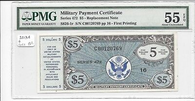 MPC Series 472  5 Dollars REPLACEMENT!!  RRR PMG 55EPQ ABOUT UNC