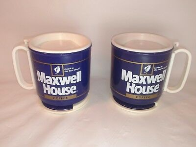 Vintage Maxwell House Coffee Travel Mugs - by Whirley – COMPLETE NEW NEVER USED