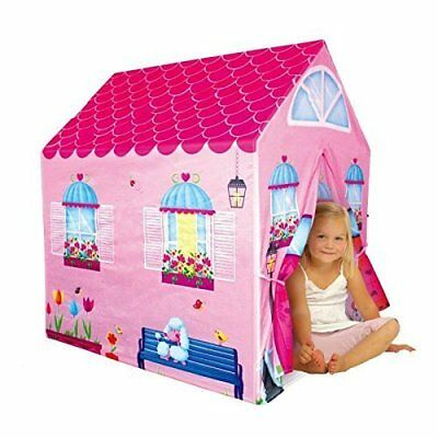 Girls Cottage Playhouse Indoor Play Tent Toddler Kids Bedroom Toy House Pink New