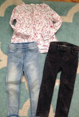 Girls Clothes Lot Of H&M Fall Jeans Size 4-5 Outfits