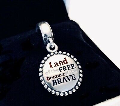 Authentic PANDORA LAND OF THE FREE Dangle Charm W/ Pandora TAG &BOX#ENG791169-43