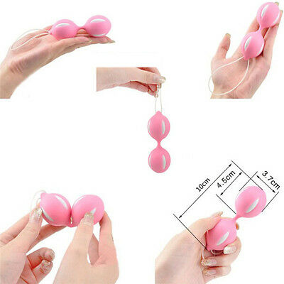 Duotone Ben Wa Ball On String Weighted Female Kegel Vaginal Tight Exercise LJ