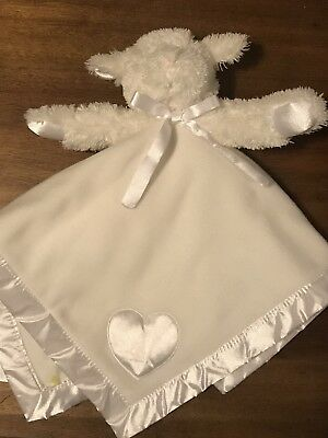 New Baby Boyds Bears Flossie the lamb plush Security Lovey Blanket blankie white