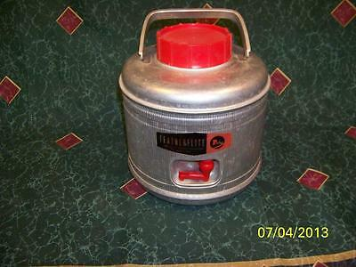 Vintage 1950's Poloron FEATHERFLITE Aluminum Picnic Camping Jug Thermos Cooler