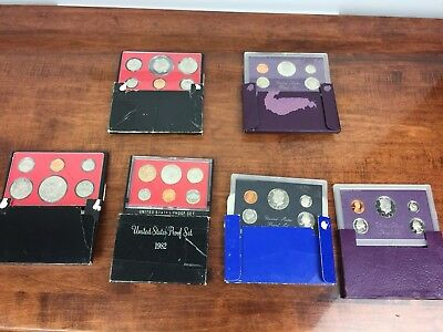 1970's And 1980's United States US Mint Clad Proof Set (Original Mint Packaging)