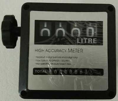 4 Digital Diesel Fuel Oil Flow Meter Gallon Counter Meter 1% 1 inch 216