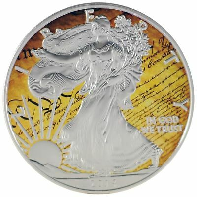 2016 1oz Ounce American Silver Eagle Coin Colorized