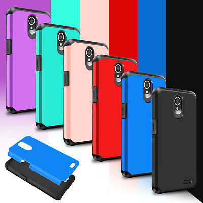 For ZTE Maven 3 Z835 / Overture 3 Hybrid Shockproof Rubber Armor Hard Case Cover