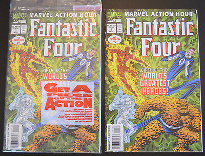 MARVEL ACTION HOUR, FEATURING THE FANTASTIC FOUR (2-Book) Comic LOT #1 (x2) - NM