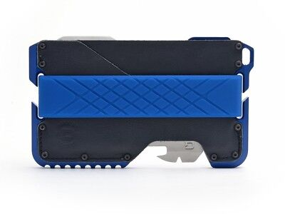 Dango Tactical EDC Wallet (Made in USA)-Limited THIN BLUE, Multitool, RFID Block