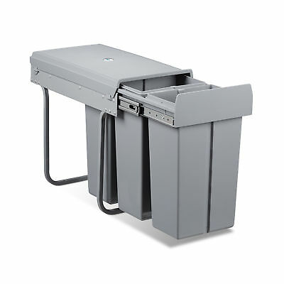 30 L Trash Separation System Trash Can 3 Compartments for Recycling Compost