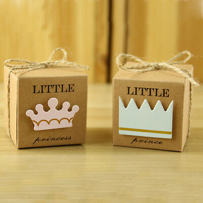 10 Pcs Crown Favor Box Wedding Birthday Baby Shower Party Candy Boxes Bags 、Pop