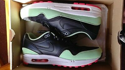 ec9181641d6bcf Nike Air Max 1 Fb Sz 9.5 Black Fresh Mint Pink Flash Roshe Yeezy 579920-