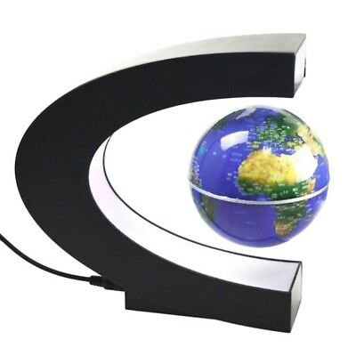 High Tech Antigravity Floating Magnetic Globe with LED Light Gift Blue BS