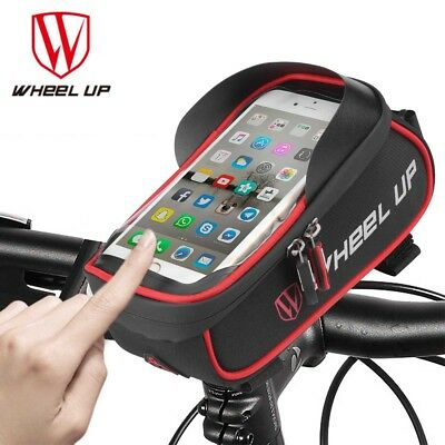 Cycling Bike Touch Screen Front Frame Pannier Tube Bag Case Pouch Handlebar Bag