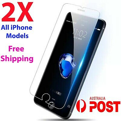 2X Anti Scratch Tempered Glass Screen Protector Guard For iPhone X 8 7 6S Plus 4