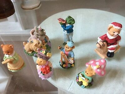 Lot of Detailed Resin Teddy Bear Animals Figurines