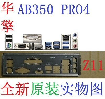 NEW Original I/O IO Shield Plate for Asrock AB350 PRO4 #T2138 YS