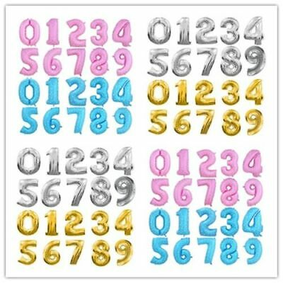16th 18th 21st Number Age Birthday Party 16 inch Foil Balloon Air Decor balloons