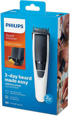 Philips Cordless Body Hair Beard Trimmer Rechargeable Groomer Clipper BT3206