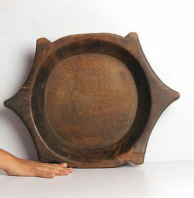 1850S Hand Carved Wooden Turtle Shape Dough Kneading Bowl Parat 4383