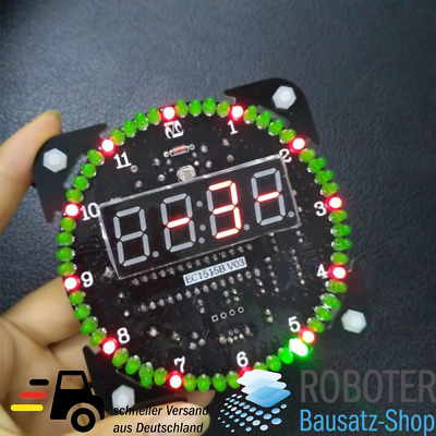 Bausatz DS1302 Digitale Rotation LED Uhr DIY-Elektronik Löten Microcontroller