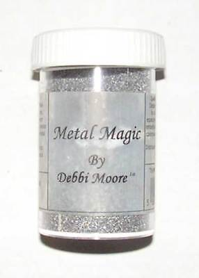 Debbi Moore Embossingpulver Metal Magic silber 34 g, Glitzer Staub Glitzerpulver