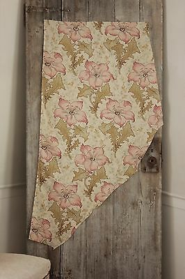 Antique French 1895 printed cotton Belle Epoque floral material old ~ LOVELY