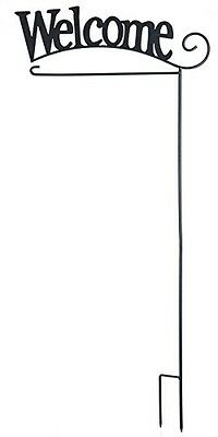 GanWelcome Flag Holder Stake, Iron Holds standard size garden flags banners NEW
