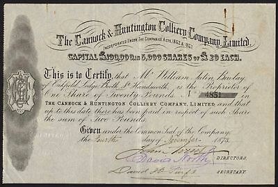 Cannock & Huntington Colliery Co. Ltd., 1873