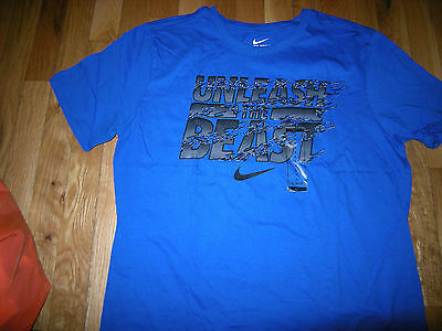 Brand New Mens Blue & Gray Nike Athletic Cut Shirt, Size S
