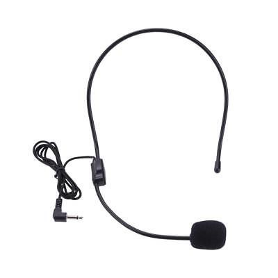 3.5mm Lightweight Wired Microphones Guide Lecture Speech Headset+Adjustable Mic
