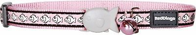Red Dingo PINK Reflective Cat / Kitten Collar   Safety Buckle & Bell   FREE P&P