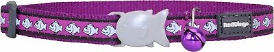 Red Dingo PURPLE Reflective Cat / Kitten Collar | Safety Buckle & Bell