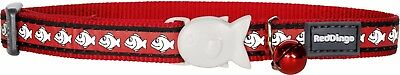 Red Dingo RED Reflective Cat / Kitten Collar | Safety Buckle & Bell | FREE P&P