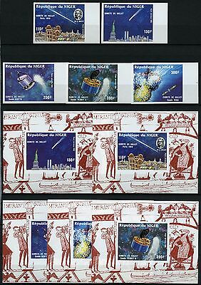 Space Raumfahrt 1986 Niger Halley`s Comet 977-981 U + Deluxe Imperf MNH/1346