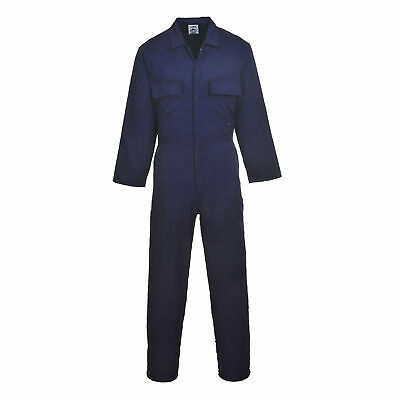 Men's Work Coverall Portwest S999 Protective Boilersuit, Navy, Regular Fit