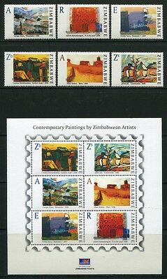 Zimbabwe Simbabwe 2009 Gemälde Paintings Kunst Art 913-18 Block 26 MNH