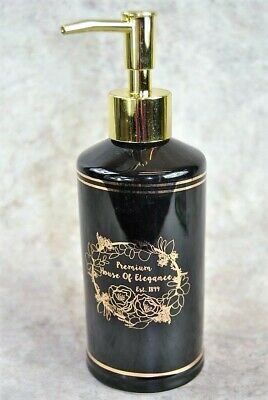 Black and Gold Soap Lotion Bathroom Dispenser