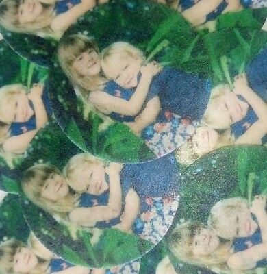 30-500 Pre-Cut Edible Wafer Cup Cake Toppers Personalised Picture Photo Text