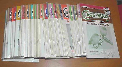 Lot of 62 AMERICAN CAGE-BIRD magazines - vintage 1971 through 1977