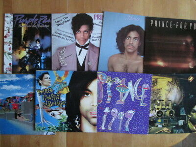 Prince  8 LPs  For You, 1999 2 LPs, Sign O Times, Same, Graffity Bridge 2 LPs...